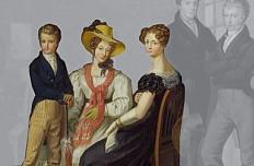 Leopold Fertbauer: Familienbild des Kaiserhauses um den Herzog von Reichstadt, Ölgemälde, 1826