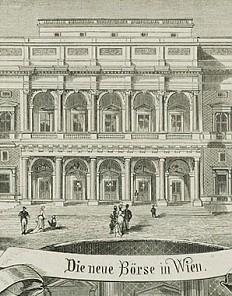 The new Vienna Stock Exchange on Schottenring, built between 1874-1877