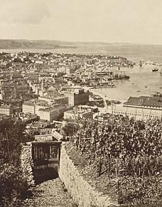 Panorama of Trieste, photograph, 19th century