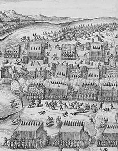The Battle of the White Mountain near Prague, print, 17th century