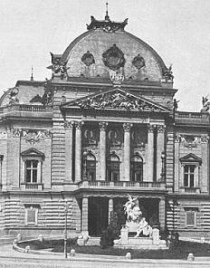 Vienna, Volkstheater. Photograph, c. 1908