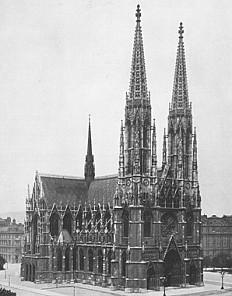 Vienna, Votivkirche. Photograph, c. 1908