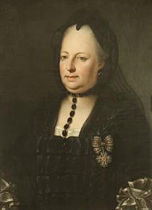 Anton von Maron (zugeschrieben): Maria Theresia in Witwentracht, Ölgemälde, um 1772