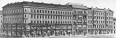 Herzmansky department store on Vienna's Mariahilferstrasse. Newspaper illustration, 1910