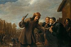David Teniers d. Ä.: Überfall auf ein Dorf, 1648
