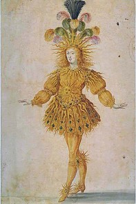 The young Louis XIV in the main role of Apollo in the *Ballet royal de la nuit*, 1653