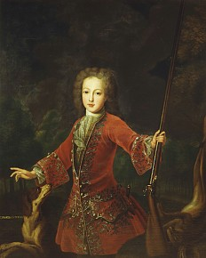 Frantz von Lutering: Franz Stephan of Lorraine in hunting costume, oil painting, c. 1723