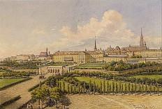 """Franz Alt: """"Der alte Burgplatz in Wien"""", 1873, Aquarell"""