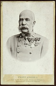Franz Joseph in old age, photograph, after 1900