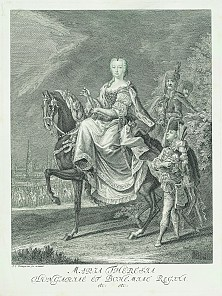 J. E. Ridinger: Maria Theresa, *Hungariae et Bohemiae regina*, engraving, c. 1745