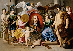 Jan van den Hoecke: Allegory on Archduke Leopold Wilhelm, c. 1650
