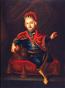 Joseph II as a child in Hungarian costume, oil painting, c. 1743