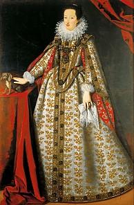 Justus Sustermans: Eleonora of Gonzaga (1598–1655), second wife of Ferdinand II, in her bridal gown, 1621, ...