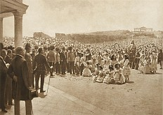 K. F. Gsur: Eighty thousand Viennese schoolchildren gather at Schönbrunn on 21 May 1908 to mark the sixtiet...