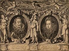 Kaiser Matthias und Kaiserin Anna, Kupferstich, 1613