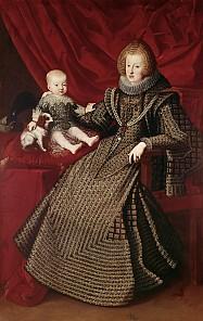 Empress Maria Anna with her first-born son Ferdinand, 1634