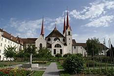 Muri Abbey, view of the abbey church from the north