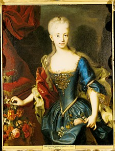 Andreas Moeller: Maria Theresia in her early teens, oil painting, before 1730
