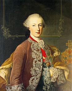 Martin van Meytens (attr.): Joseph II as young emperor and co-regent, c. 1765, oil painting