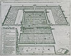 Matthäus Merian d. Ä., Ansicht von Schloss Neugebäude, Kupferstich, 1649