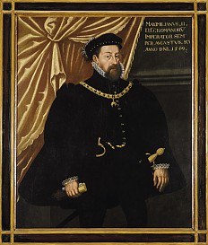 Maximilian II with the Order of the Golden Fleece, three-quarter-length portrait, oil on canvas, 1569