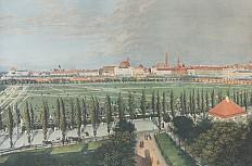 """""""Paradeplatz vor der Löwelbastei (um 1840)"""", nach einer anonymen Gouache"""