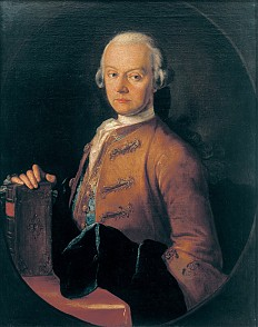 Pietro Antonio Lorenzoni: Leopold Mozart, Porträt, um 1765, Ölgemälde
