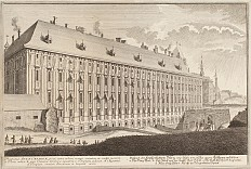 Prospect of the imperial palace, 17th century, copperplate engraving