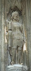 Rudolf IV., Stifterfigur vom Singertor der Stephanskirche, um 1360
