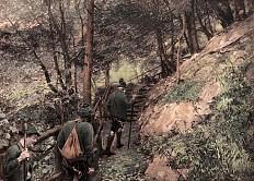 Kaiser Franz Joseph beim Aufstieg zur Jagd. Heliogravüre nach einem Gemälde von Wilhelm Gause, 1908
