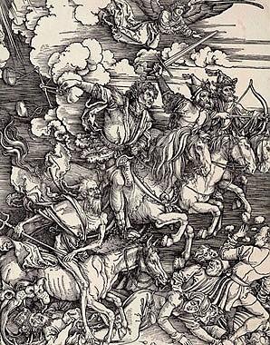 Albrecht Dürer: Die Apokalyptischen Reiter, Holzschnitt, 1497/98