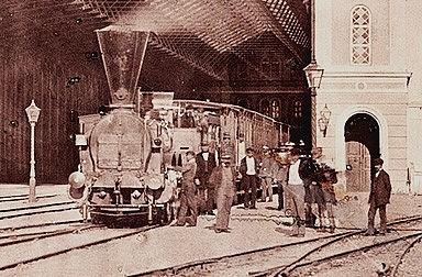 Andreas Groll: Kaiserin-Elisabeth-Bahnhof, 1860