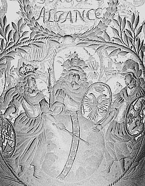 Covered goblet paying tribute to the Grand Alliance in the War of Spanish Succession, c. 1702-1713