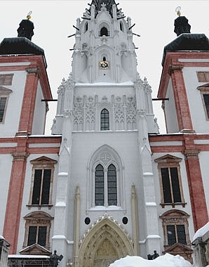 Façade of the basilica at Mariazell