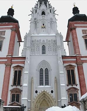 Fassade der Basilika Mariazell