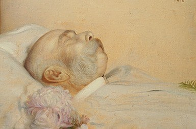 Franz von Matsch: Franz Joseph on his deathbed, oil painting, 1916