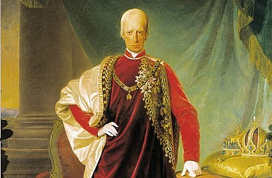 Friedrich von Amerling: Franz II (I) in the robes of the Order of the Golden Fleece, oil painting, 1832