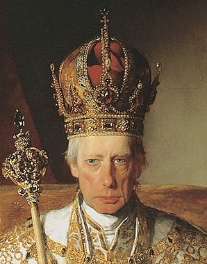 Friedrich von Amerling: Emperor Franz I of Austria with the insignia of the Austrian Empire, painting, 1832