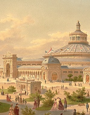 Site of the Vienna World Exhibition with a view of the Rotunda