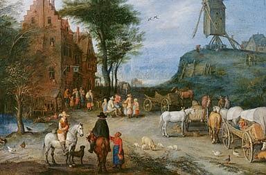 Jan Brueghel d. Ä: Dorfstraße, 1603