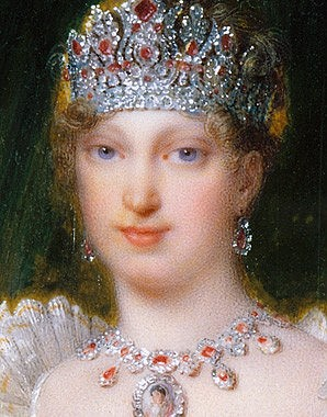 Jean Baptiste Isabey: Marie Louise as Empress of the French, gouache, 1810