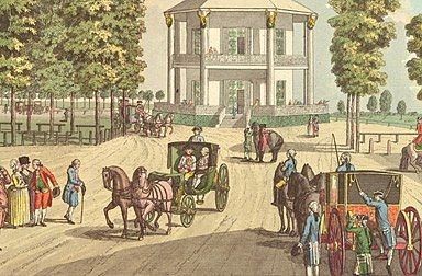 Johann Ziegler: The Lusthaus in the Prater, copperplate engraving, 1783