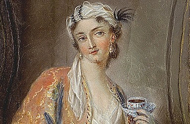 'Young Turkish woman', watercolour, 18th century