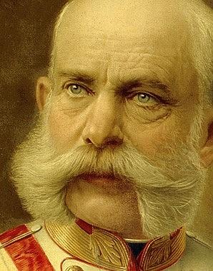 Emperor Franz Joseph I, oil painting, c. 1910