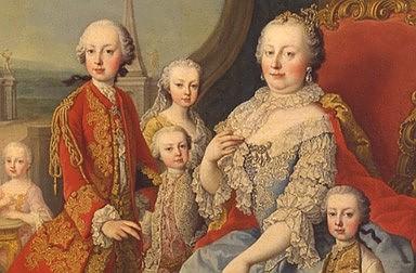 Martin van Meytens: Franz I. Stephan und Maria Theresia im Kreise der Familie, Ölgemälde, um 1754/55