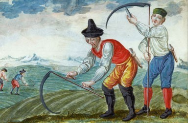 One of the labours from the cycle *The Farmer's Year*, Salzburg, 3rd quarter of 18th century