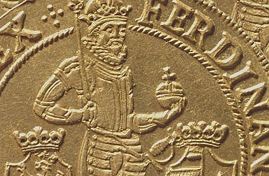 A coin with an image of Ferdinand II