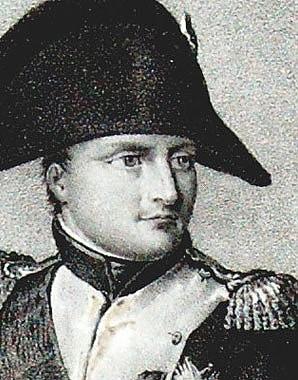 Napoleon Bonaparte mounted on horseback, lithograph, 1840