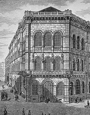 'Palais Ferstel' (on the corner of Herrengasse and Strauchgasse, Vienna), 1860