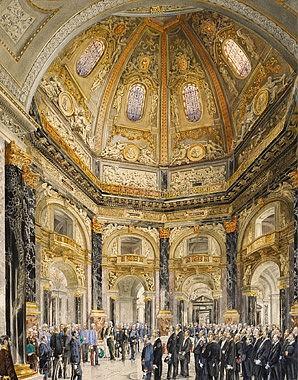 Robert Raschka: Die Eröffnung des Kunsthistorischen Hofmuseums durch Kaiser Franz Joseph I. am 17. Oktober 18…